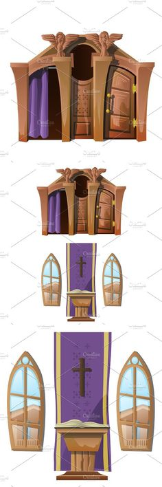 altar catholic cathedral church window interior creativemarket