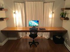 10.5' floating desk battlestation