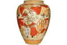 Japanese Satsuma Vase from Kelly Gray Collection