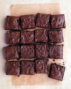 Dark-Chocolate Spelt Brownies by Martha Stewart. Baked with all-spelt flour, these fudgy, crackly-top one-bowl brownies develop a chocolaty depth with hints of maple. Dark Chocolate Brownies, Fudgy Brownies, Chocolate Truffles, Chocolate Covered, Cheese Brownies, Chocolate Kisses, Chocolate Stout, Healthy Brownies, Chocolate Food