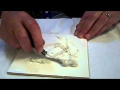 Porcelain Painting -Marion Baldwin - The Brick Wall Stage 2 - YouTube