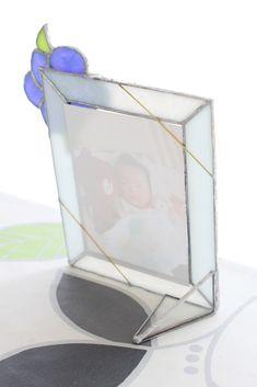 ステンドグラス写真立て (すみれ)