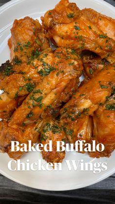 Chicken Thigh Recipes Oven, Buffalo Chicken Recipes, Easy Chicken Dinner Recipes, Chicken Meal Prep, Baked Chicken Recipes, Chicken Wings, Asian Chicken, Buffalo Wings, Easy Healthy Recipes