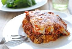 Baked polenta pie - OH MY! Cheesy yummy goodness. I want to make this again! (From Bevcooks.com)