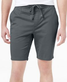 American Rag Men's Classic-Fit Stretch Solid Drawstring Shorts, Only at Macy's  - Black 2XL