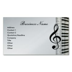 Music Teacher Music Notes Musician Business Card Template