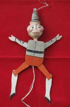 A RARE PALMER COX BROWNIE PAPERMACHE JUMPING JACK (05/09/2011)