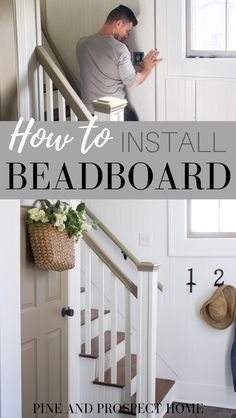 How to Install Beadboard Paneling is part of How To Install Beadboard Paneling How Tos Diy - Come see how we transformed our entryway with classic, timeless beadboard paneling! I'll explain how to install beadboard paneling as well as Do It Yourself Inspiration, Home Decor Inspiration, How To Install Beadboard, Beadboard Wainscoting, Kitchen Sink Interior, Diy Home Decor Projects, Do It Yourself Home, Decorating Your Home, Interior Decorating