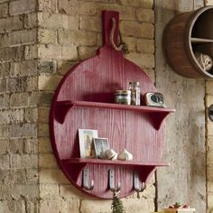 Pizza paddle shelf.....so unique & cute! From countrydoor.com