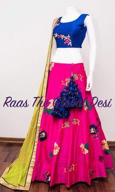 Chaniya Choli For Navratri Saree Tassels Designs, Half Saree Designs, Choli Designs, Lehenga Designs, Blouse Designs, Half Saree Lehenga, Lehenga Gown, Lehenga Choli Online, Sari