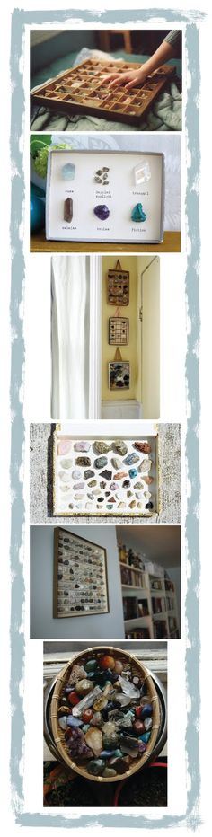 rock collections are the bomb. Clara needs a box like the top pic.