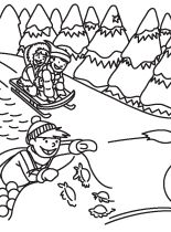 Snowy Day Coloring Page