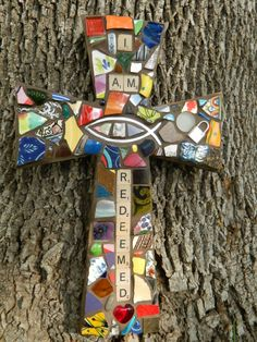 Part of my I AM series, I Am Redeemed Cross by Amy Glass, 2013, www.facebook.com/mymosaiccloset