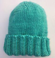 Free Knitting Pattern For Quick And Easy Baby Hat - , kostenloses strickmuster für schnelle und einfache babymütze - , patron de tricot gratuit pour un chapeau de bébé rapide et facile - Baby Hat Knitting Patterns Free, Baby Hat Patterns, Baby Hats Knitting, Mittens Pattern, Beanie Pattern, Crochet Baby Hats, Easy Knitting, Knitted Hats, Crochet Patterns