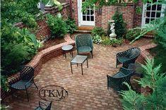 Dry-Laid Brick Patio with Seat Walls | Flickr - Photo Sharing! Kings Mason.
