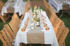 fun rehearsal dinner set-up    {Pixie's Petals}