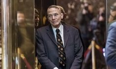 Physicist William Happer stands inside the elevator in the lobby of Trump Tower in New York, U.S., on Friday, Jan. 13, 2017. Happer, who is under consideration to be Trump's science advisor, signed a letter asking him to withdraw from the UN Convention on Climate Change.