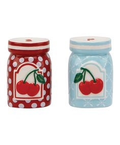Vintage Salt and Pepper Shaker:: Cherry Themed Kitchen:: Cherry Salt and pepper shakers:: Vintage Home:: Retro Kitchen