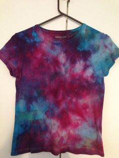 Small Marbled Ice Tie Dye Shirt on Etsy, $15.00
