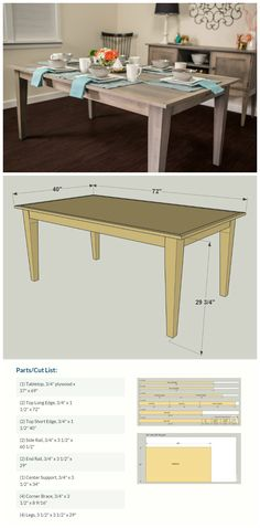 How To: Build a Farmhouse Table your family and guests will LOVE!