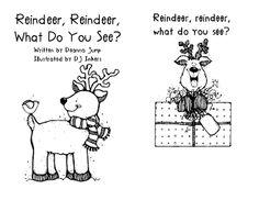 reindeer emergent reader freebie