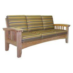 Outdoor Hershy Way Cypress Mission Wood Patio Sofa - C2DE79-NA-FM