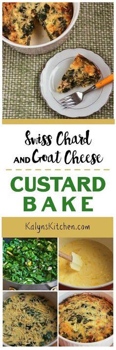 swiss chard and goat cheese custard bake recipes dishmaps swiss chard ...