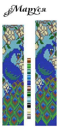 Bead bracelet pattern from Kristi Jones Loom Bracelet Patterns, Bead Loom Bracelets, Bead Loom Patterns, Peyote Patterns, Beading Patterns, Cross Stitch Patterns, Cross Stitches, Bead Loom Designs, Beadwork Designs