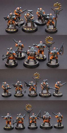 Genestealer Cults by Artur Necromunda Gangs, Tyranids, Warhammer 40k Miniatures, Mini Paintings, Warhammer Fantasy, Game Workshop, Dioramas, Warhammer 40000, Miniature Wargames