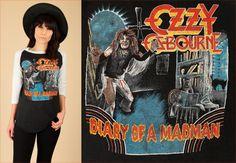 ViNtAgE 80's OZZY Osbourne T-Shirt Shirt // by hellhoundvintage