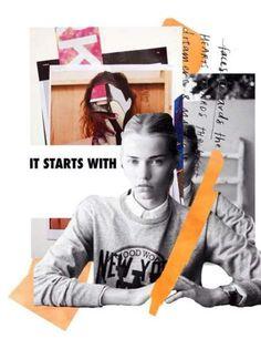 Ideas for fashion inspiration moodboard collage Fashion Illustration Collage, Illustration Mode, Fashion Collage, Fashion Art, Trendy Fashion, Fashion Clothes, Fashion Boards, Drawing Fashion, Design Illustrations