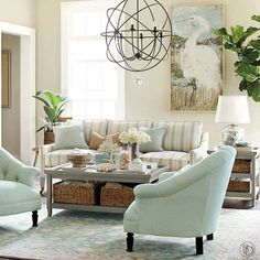 Beautiful Coastal living room