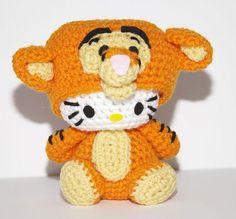 Hello Kitty Doll  Hello Kitty Tigger Amigurumi by hookmiup on Etsy, $33.00
