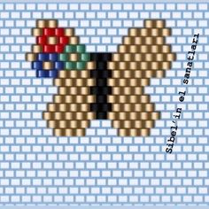 Pottery Bead loom patterns butterfly, Bead loom patterns p. Seed Bead Patterns, Peyote Patterns, Beading Patterns, Pottery Patterns, Beaded Banners, Native Beadwork, Bead Loom Bracelets, Beaded Brooch, Beaded Animals