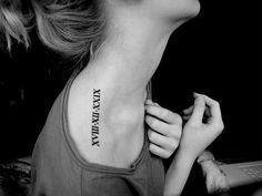 I am absolutely obsessed with roman numeral tattoos . I will get one one day .. not sure where or what yet but its gonna happen
