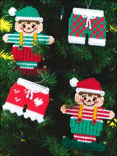 Plastic Canvas - Special Occasions - Christmas - Whimsical Christmas Ornaments - #FP00561
