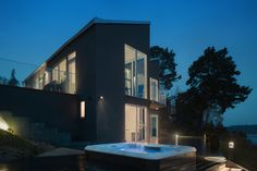 Modern Villa in Sweden Offers Panoramic Sea Views - http://freshome.com/modern-villa-in-sweden/