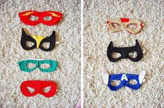 diy, sewing, dress up: fun with superhero masks :-),