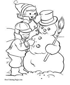 Christmas online coloring books pictures to color! Snowman Coloring Pages, Halloween Coloring Pages, Coloring Pages To Print, Coloring Book Pages, Coloring Pages For Kids, Christmas Coloring Sheets, Printable Christmas Coloring Pages, Scary Halloween Crafts, Halloween Town