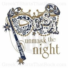 Unmask the night. Mardi Gras or Masquerade Theme. Bid Day, Recruitment, and Rush Shirts. Call us Today! 800-644-3066