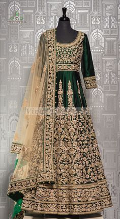 Searching for that perfect green lehenga for weddings! Pakistani Wedding Outfits, Pakistani Wedding Dresses, Bridal Outfits, Indian Gowns, Indian Attire, Indian Outfits, Nikkah Dress, Eastern Dresses, Dress Indian Style