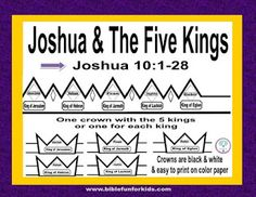 Joshua & the Five Kings Printable Crowns