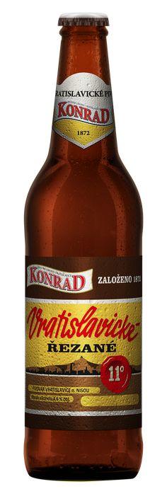 Nová etiketa – Konrad Vratislavické řezané – Pivovar Konrad Liberec Beer Bottle, Drinks, Drinking, Beverages, Beer Bottles, Drink, Beverage
