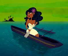 """Concept art for """"Moana"""" which will reportedly resolve around Moana Waialiki, a Polynesian sea-voyager, navigator, and chief's daughter, who must embark on a journey to help her family. The film is also slated to incorporate demi-gods and spirits from real historical mythologies, much like """"Hercules"""" did. """"It'll be an epic, or even mythic, adventure set around 2000 years ago and across a series of islands in the South Pacific,"""""""