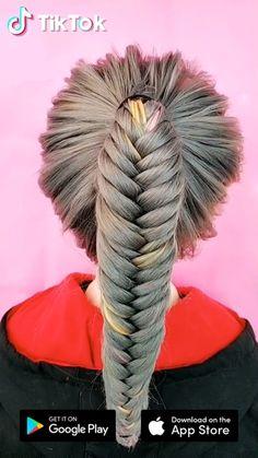 TikTok: schau dir lustige kurze Videos an - Unique Hairstyles, Girl Hairstyles, Popular Hairstyles, Mermaid Hairstyles, Braided Hairstyles Tutorials, Wedding Hairstyles, Curly Hair Styles, Natural Hair Styles, Hair Videos
