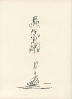 alberto giacometti figure drawings