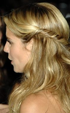 Heidi Klum Long Hairstyle side view