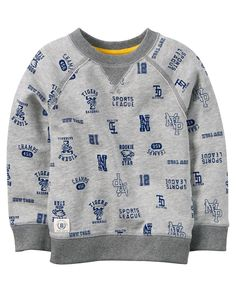 Baby Boy French Terry Athletic Pullover from Carters.com. Shop clothing & accessories from a trusted name in kids, toddlers, and baby clothes.