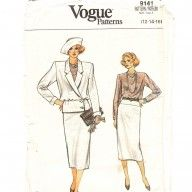 Vintage Vogue original sewing pattern for slimline suit with unusual jacket , to buy