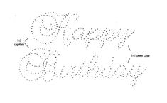 happy birthday embroidery card template: